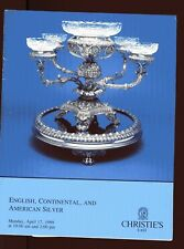 CHRISTIE'S 1989 Catalog ENGLISH Continental & American SILVER Illustrated