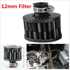 Carbon Fiber Look Mini Air Breather Filter Valve Cover Air Intake Vent 12mm Car