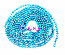 Wholesale 10pcs Ball Metal 1.5mm Beads Chains Necklace jewelry 70cm long
