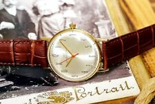 USSR Vintage Luch Ray Gold Plated Soviet Russian Men's Watch new leather strap
