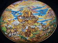 Franklin Mint Two by Two Animals & Noah's Ark Heirloom Plate by Bill Bell Vgc