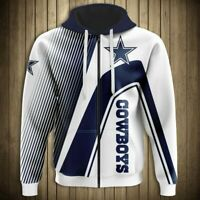 DALLAS COWBOYS Hoodie Zip Up Hooded Pullover S-5XL Football NFL 2019 NEW