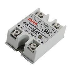 10pcs SSR-100AA 100A Solid State Relay Module 80-250V AC Input 24-380VAC