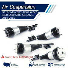 Full Set Front Rear Fit For Mercedes S-Class W222 Air Suspension Strut Shock