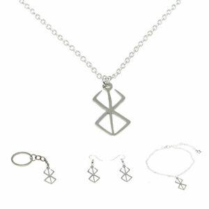 Berserker Rune Symbol necklace Nordic Logo Emblem Norse Amulet Talisman Jewelry