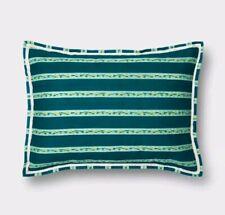 Opalhouse Teal Blue Seine Stripe Sham ~ Standard ~ Green Yellow