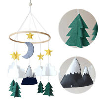 Felt Baby Crib Mobile Ornament Woodland Starry Night Nursery Room Hanging Decor