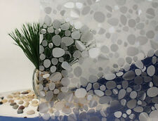 "Pebbles Cut Glass Static Cling Window Film, 36"" Wide x 1 yd. Sold by the yard."