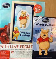 CROSS STITCH CHART Winnie The Pooh Picture + KIT AIDA Design 9 x 5.5cm Disney