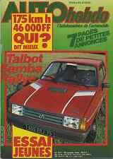 AUTO HEBDO n°341 du 28 Octobre 1982 PORSCHE 956 SAMBA RALLYE