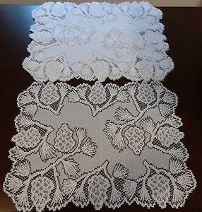Heritage Lace Polyster Rectangular White Pinecone Placemats 14x19 4 in set (11)