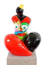Modern Art - Hommage an Nanas - Pop Art - Fiberglas-Figur - signiert M. Klein