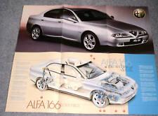 Alfa Romeo 166 V6 English & Italian La Technica Cutaway Section Brochure 1997