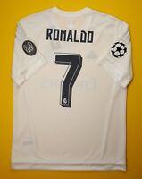 5+/5 Ronaldo Real Madrid jersey LARGE 2015 2016 home shirt AK2496 soccer Adidas