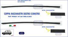 N. 2 GUARNIZIONI RASCHIAVETRO ESTERNO INTERNO DX - SX   FIAT PANDA 141 750 4X4