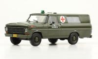 Ford F-100 1969 Army Ambulance Argentina Rare Diecast Scale 1:43 + Magazine