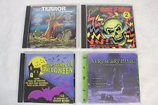 Nice Lot of 4 Horror Halloween Scary Sounds & Movie Theme Music of Terror CDs!