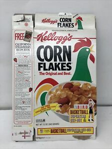 KELLOGGS CORN FLAKES LARRY BIRD SUPERSTAR CUT OUT BOX 1992 CEREAL USA OLYMPICS