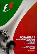 F1 Monza Italian Grand Prix Hamilton 2012 Original Poster 96cm x 66cm