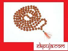 RUDRAKSHA RUDRAKSH JAPA MALA 7mm ROSARY 108 +1 BEAD YOGA HINDU PRAYER MEDITATION