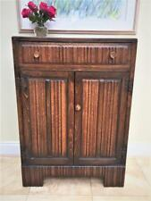 Vintage / Antique Old Charm Oak Cupboard - Linen Fold Design - Arts & Crafts?
