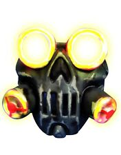 Adult's Toxic Light Up Biohazard Gas Mask Costume Accessory