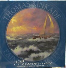 """Jigsaw Puzzle~Thomas Kinkade~Perseverance~750 piece~24"""" Round~Ceaco"""