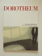 Dorotheum Kunst des 20 Jahrhunderts März 2004 Kunstauktion Katalog