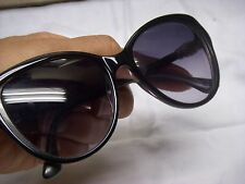 David Yurman DY126 Black Grey Silver Gradient Cat Eye Plastic Sunglasses $295