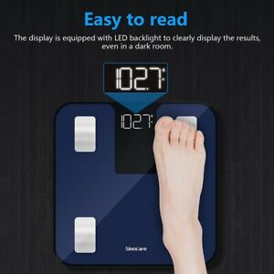 Sinocare 180kg Smart Body Fat Scale Digital Bathroom Scales Weight monitor Hot