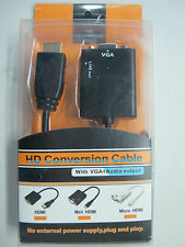 HYTEK HD Conversion Cable with Audio+VGA up to 1080p **BEST PRICE*F00