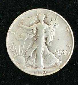 1941S USA LIBERTY SILVER HALF DOLLAR