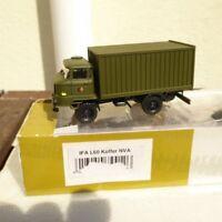"""Roco Herpa Minitanks 744126 IFA L 60 Koffer - LKW """"NVA"""" grüne Tarnfarbe H0,RK"""