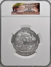 2018-P 5oz SILVER 25C Apostle Islands NGC SP 69 Early Releases must see!