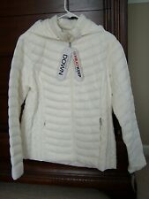 Women's Heat Keep Sz Large,  Lt Wt Down Hooded Packable Puffer Coat,  $100, NWT