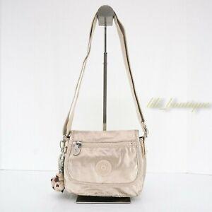 NWT Kipling AC8281 Sabian Crossbody Mini Shoulder Bag Nylon Starry Gold Metallic