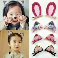 2PCS Kids Lovely Cat Ears Hairpins Hair Clips Hair Accessories Barrettes New Set