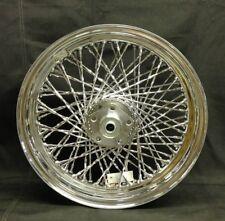 "Chrome Twisted 80 Spoke 16""x3"" Rear Wheel for Harley FX/XL Chain Models 73'-84'"