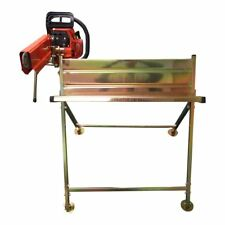 Log Saw Horse Holder RocwooD Metal Folding Wood With Pivoting Chainsaw Clamp