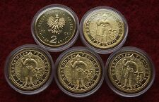 POLAND SET OF COINS 2 ZL 750TH ANNIVERSARY LOCATION OF CRACOV 2007 1 PC CAPSULE