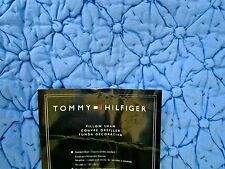 Tommy Hilfiger Melrose Blue Euro Sham Puff Quilted 26x26 Pillow NEW MSRP $70.