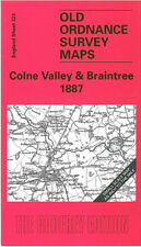 OLD ORDNANCE SURVEY MAP COLNE VALLEY, BRAINTREE, COGGESHALL, MARKS TEY 1887