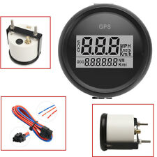 Marine Boat Car Digital GPS Speedometer Gauge 0-999Knot 316L Black Bezel + Dial