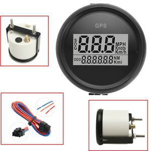 Marine Boat Car Digital GPS Speedometer Gauge 0-999Knot 316L Black Bezel + Dial