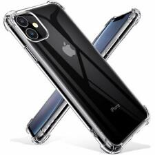 iPhone 11 Clear Bumper Case Soft TPU Silicone Shockproof Cover Screen Protector