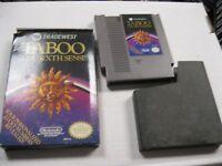 Taboo The Sixth Sense Nintendo Game