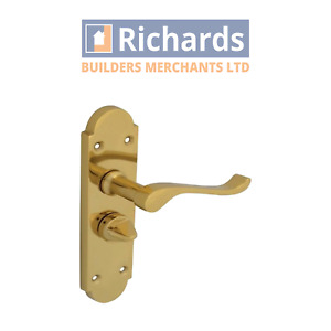 Forge Backplate Handle Privacy - Gable Brass Finish FGEHPRIGABBR