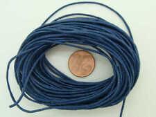 10 mètres fil cordon COTON CIRE BLEU FONCE 1mm echeveau DIY bijoux déco loisirs
