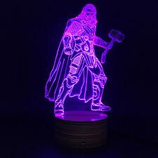 The Avenger Figure Marvel Superhero Thor 3D Table Lamp LED USB Night Light