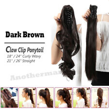 Extra Long Thick Claw Clip in on Ponytail Hair Extensions Brown Blonde Black A80